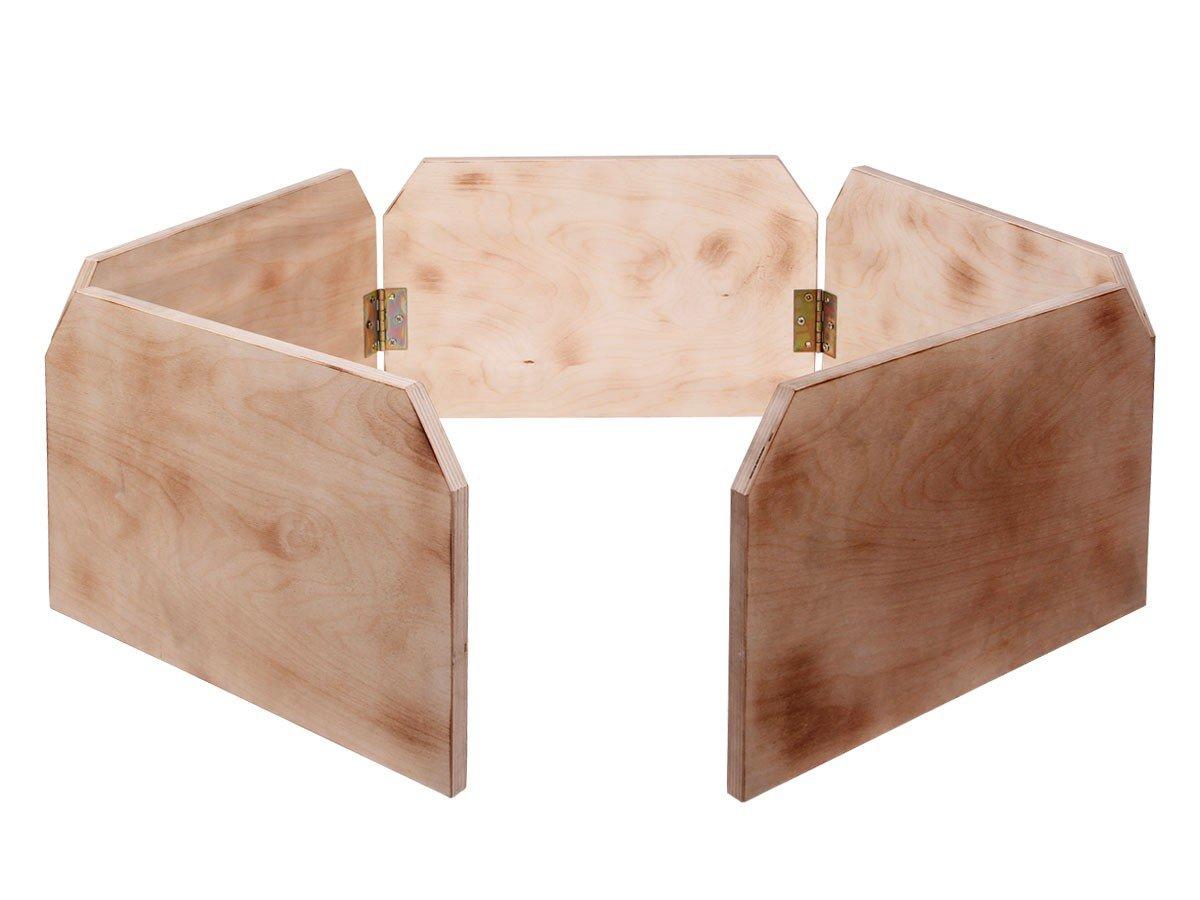 Clôture pour Enclos tortue en bois ondé , bien fabriquée à la main, avec aire de jeux, Clôture ondée Trend-world.eu