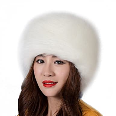 Chapka Russe Femme Elegant Mode Casquette Fausse Fourrure pour Hiver Chaud  Cache-Oreilles Ski Chapeau 7f9d0e4e050
