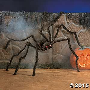Fun Express Realistic Hairy Spider With LED Eyes