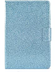 Miagon for iPad 10.2 2019/ iPad Pro 10.5/ iPad Air 3 Glitter Case,PU Leather Folio Stand Wallet Smart Cover Shiny Sparkle Shockproof Shell with Auto Wake/Sleep,Blue