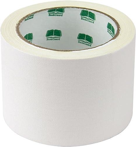 15 Yard Roll 3 White Colored Premium-Cloth Book Binding Repair Tape BookGuard Brand