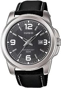 ساعة كاسيو للرجال عرض انالوج مينا بعقارب وحزام من الجلد - MTP-1314L-8AVDF
