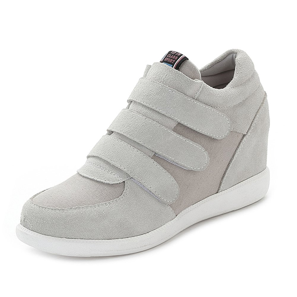 Amazon.com   Risamrt Womens Fashion Hidden Heel Wedge Sneakers Elevator Shoes Comfortable Suede&Fabric Trainers   Fashion Sneakers