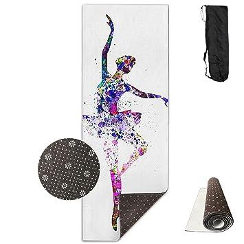 Amazon.com: ID-AWC Ballet Girl Yoga Mat ¨C Premium Yoga Mat ...