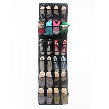 Amazoncom Nylon Hanging Shoe Organizer 24 Pockets Wall Mounted