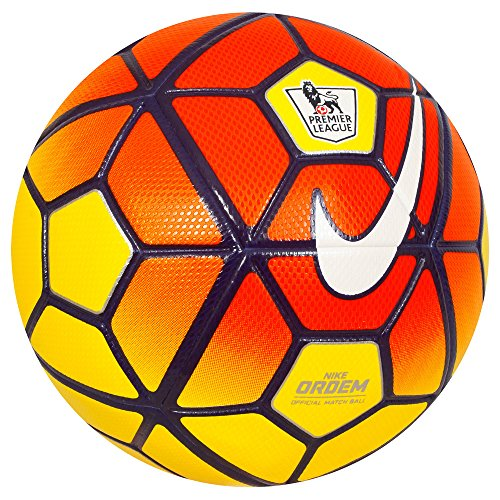 Nike Ordem 3 Premier League HI-VIS Soccer Ball, Yellow by NIKE