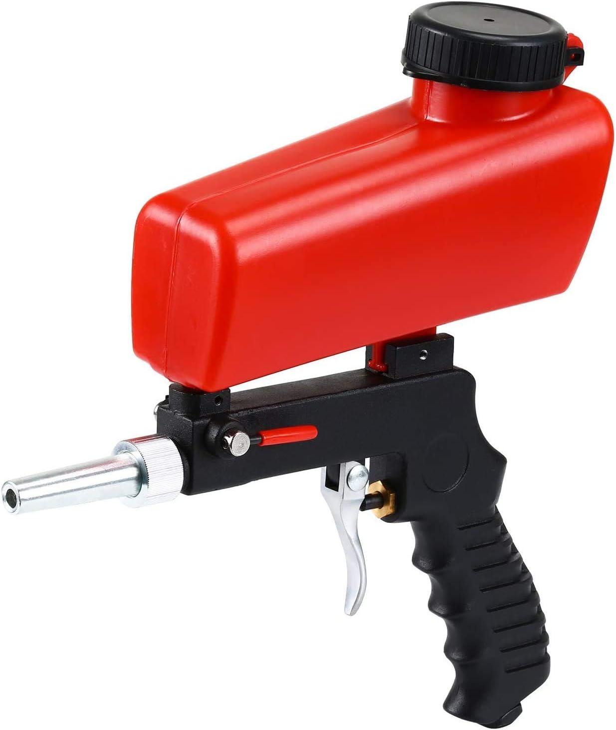 ENJOHOS Sandblasting máquina de chorro de arena portátil/pistola de chorro de arena para arena de acero/cuentas de vidrio/mantenimiento automotriz para óxido/pintura/aceite (Enchufe americano)