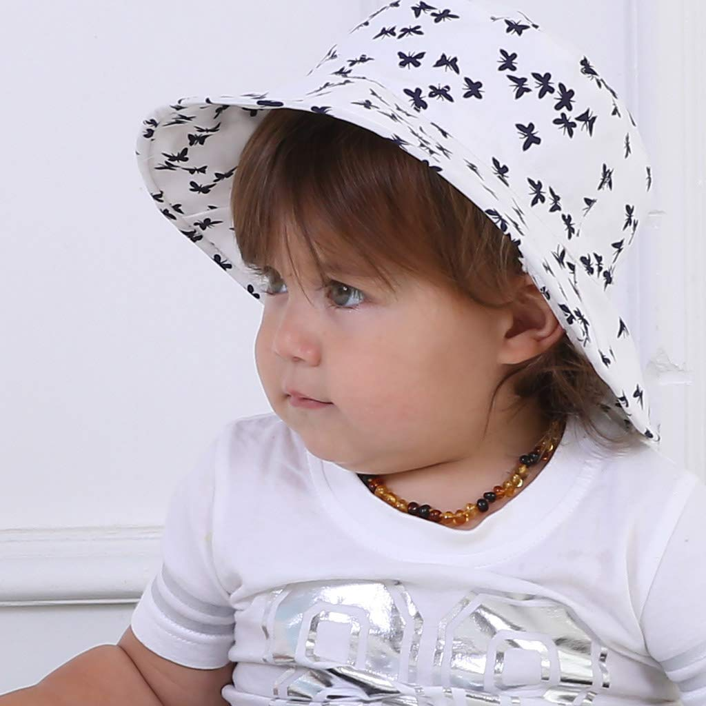 Ami /& Li tots Ni/ña Sombrero de Sol Bob Ajustable para Beb/é Ni/ña Ni/ño Infantil Ni/ños Peque/ños Sombrero Protecci/ón Solar UPF 50 Unisexo