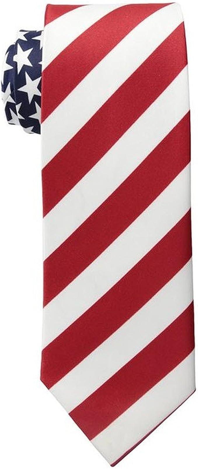 Corbata de hombre con la bandera de EE. UU., colores azul, blanco ...