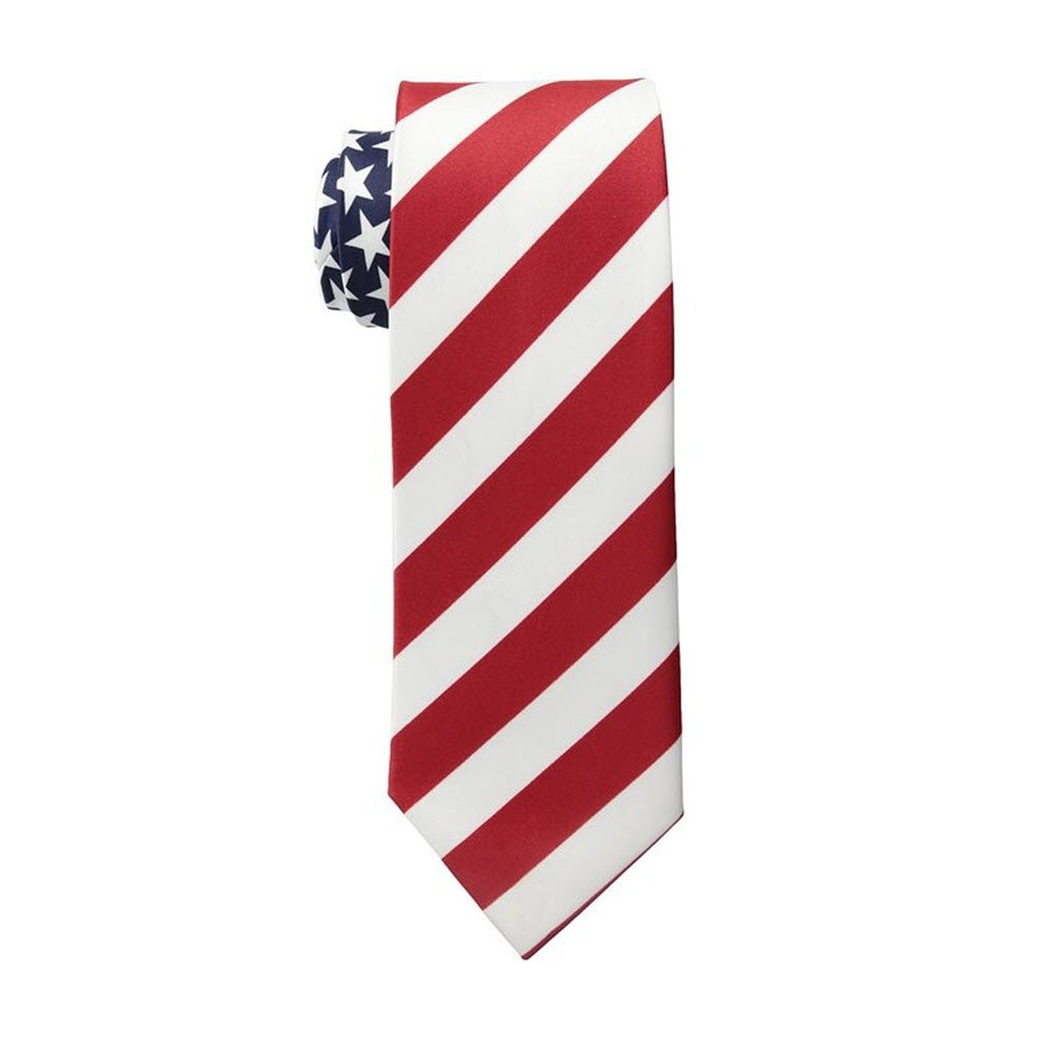 Men's American Flag Neck Tie USA Patriotic NeckTie Red White Blue Colors