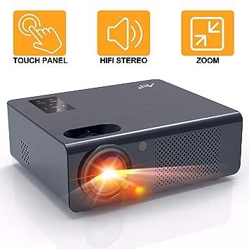 Proyector Cine en Casa 4800 Lúmenes - Artlii Energon Proyector HD Led, Admite Dolby AC-3,Altavoces Estéreo Duales, Zoom, Soporta Full HD 1080P, USB / ...