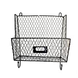 Crazyworldstore Metal Hanging Wall File