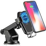 SONRU Chargeur sans Fil Rapide Voiture, 2 en 1 Qi Support Téléphone Chargeur à Induction Voiture Compatible avec iPhone X/8/8 Plus, Samsung Galaxy S8/S8 +, S7/S7 Edge, S6/S6 Edge, Note 8/5 etc