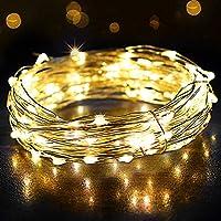 Guirlande Lumineuse 12M 120LED, OMERIL Fairy Lights IP65 Etanche Décoration Romantique pour Sapin de Noël Mariage Fête...