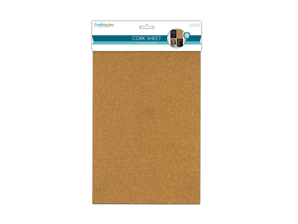 Craft Medley GC036 2mm DIY Cork Sheet, 7.87 by 11.81 7.87 by 11.81 Multicraft