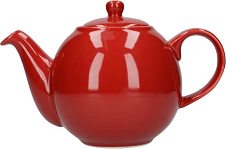 Amazon Com London Pottery 4 Cup Globe Teapot Red Teapots
