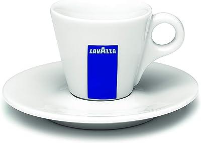 Lavazza Espressotassen Set aus Porzellan mit Untertassen
