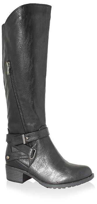 Amazon.com | Intaglia Women's Westport Extra Wide Calf Boot, Black ...