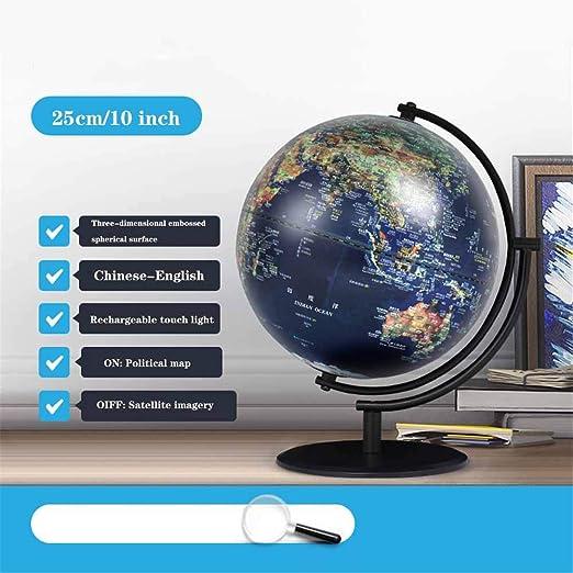 XHJZ-W Globo del Mundo - Globo del Mundo con el Soporte, Spinning ...