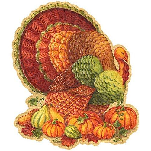 "Amscan Fall Harvest Thanksgiving Turkey Cutout Party Décor, 8"", Multicolor"