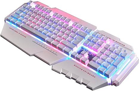 L&Y Teclados para Gamers Juego Teclado Internet Bar Teclado ...