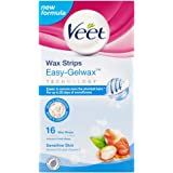 Veet Wax Strips for Sensitive Skin - Pack of 16