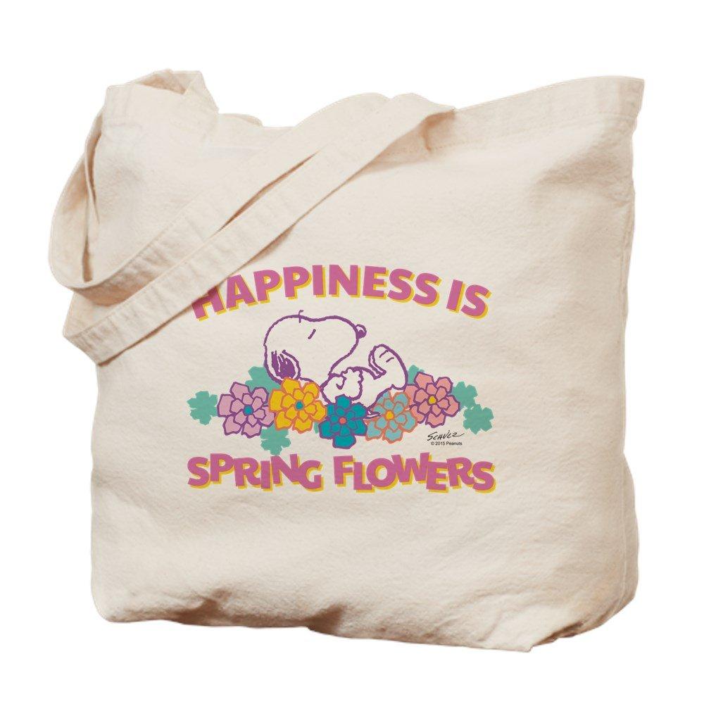 CafePress – スヌーピー花 – ナチュラルキャンバストートバッグ、布ショッピングバッグ B015QEEZAU
