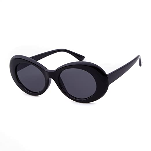 b8e9c29b8d Clout Goggles Oval Sunglasses Mod Style Retro Thick Frame Kurt Cobain  Inspired Sunglasses With Round Lens