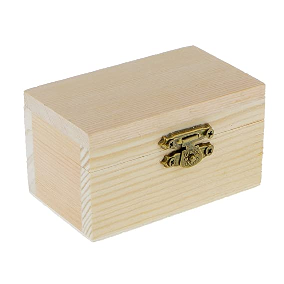 Amazon.com: Baosity 5PCS Small Wood Craft Box Plain Unpainted Wooden Storage Box Treasure Chest