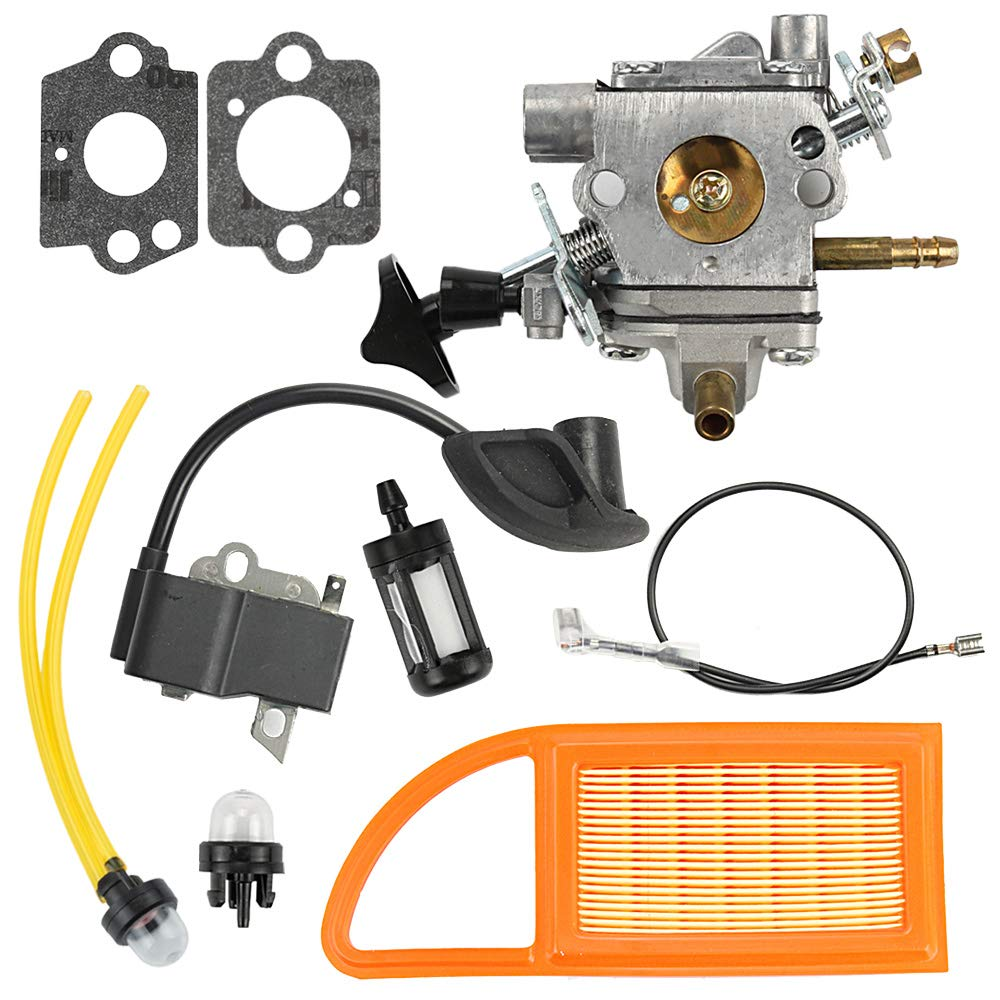 Mckin BR600 Carburetor + Air Filter + Ignition Coil fits Stihl BR500 BR550 BR 600 Backpack Blower Replace # C1Q-S183