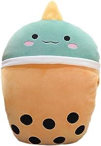 1pcs Boba Plush Toy - 12 Inches Ice Bubble Milk Tea Asian Comfort Food Soft Plush Toy Stuffed Animal - Kawaii Cute Japanese Anime Style Children's Day Gift, Kawaii Pillow for Kids to Sleep