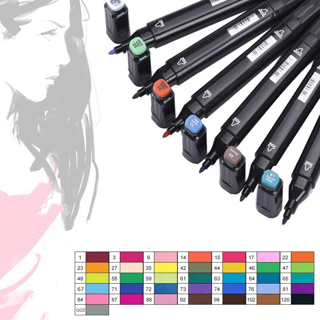 Kentew 6PCS Practical Colorful Student Creative Stationery Double Head Marker Pen Permanent Markers