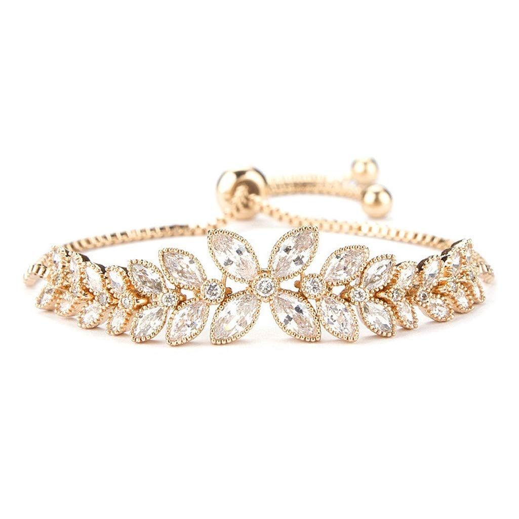 Tennis Bracelet ''A Little Romance'' Adjustable Austrian Crystal Jewelry for Girlfriend Wife Mom (C) by Mrsrui