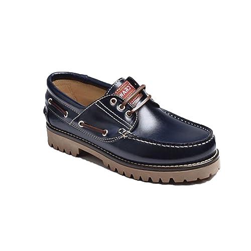 8089c82afa07e Náuticos Piel Suela Gorda EdwardŽs en Azul Marino  Amazon.es  Zapatos y  complementos