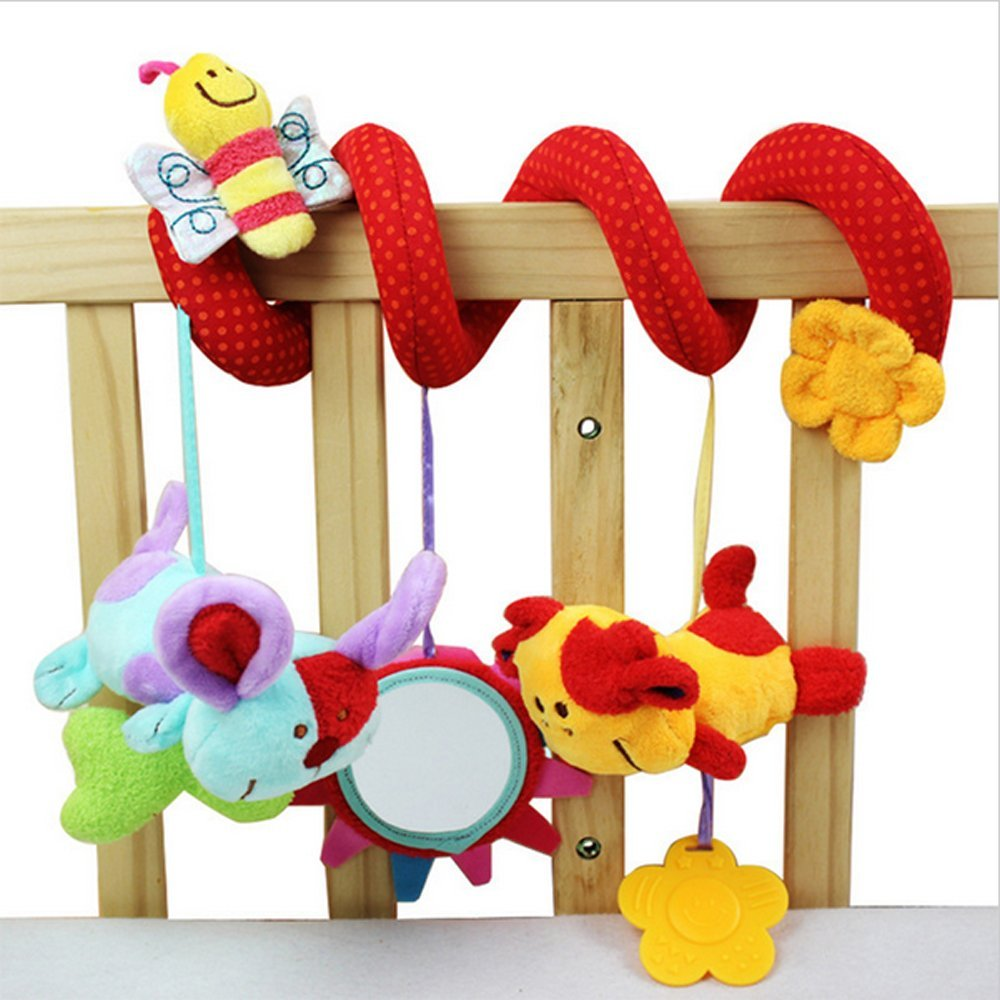 Infant Baby Around The Bed Stroller Revolves Crib Gift Hanging Baby Rattles Toys