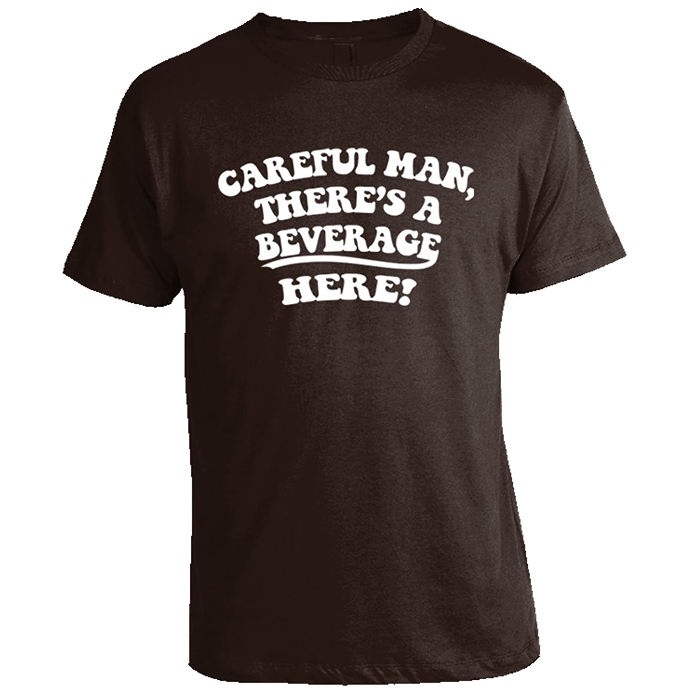 Big Lebowski Shirts - Careful Man There's a Beverage Here T-Shirt