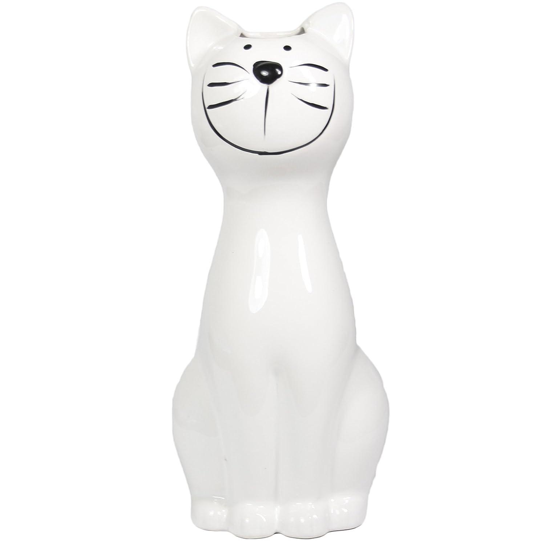 My-goodbuy24 Luftbefeuchter - Katze - fü r Heizung aus hochwertigem Dolomit Luftreiniger Wasserverdunster Verdamper verdunster Klima in weiß