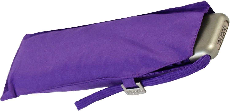 Doppler Mini Carbon Steel Slim FS 18 - Paraguas de bolsillo para mujer, morado (Morado) - 72263125