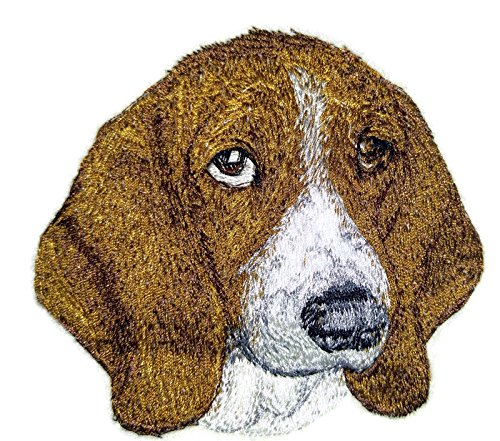 Amazing Dog Faces[ Basset Hound Dog Face] Embroidery Iron On/Sew patch [3.83