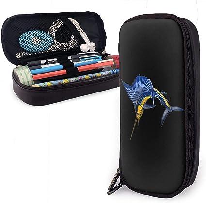 Bolso para lápices de cuero de la PU, estuche para rotuladores Harvey Marlin, estuche para marcadores, estuche para lápices organizador de papelería: Amazon.es: Oficina y papelería