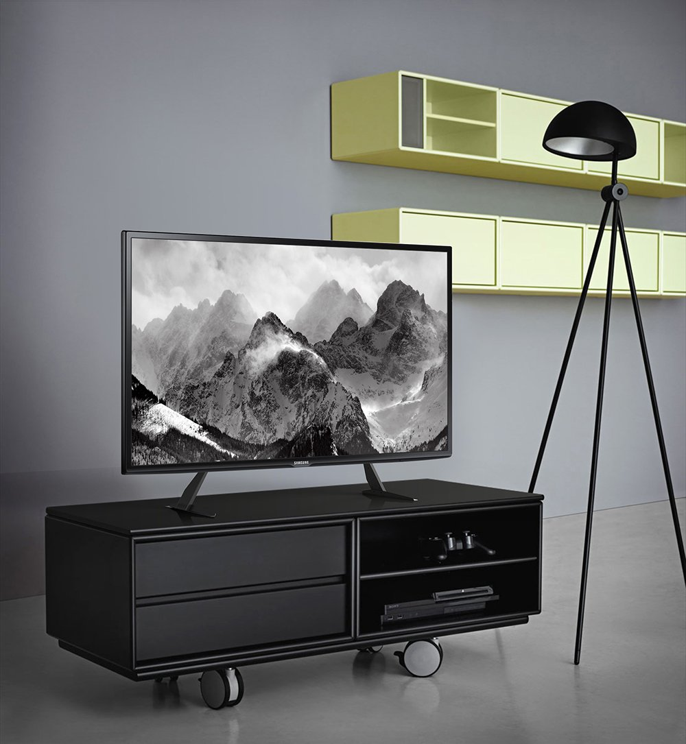 Fitueyes Universal Table Pedestal Tv Stand For 37 To 55 Amazon Co  # Photos Table Tv Led