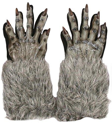 Werewolf Gloves Grey (Werewolf Costume Gloves)