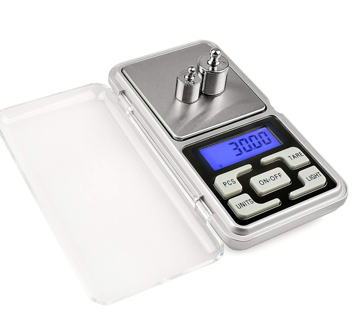Meich Jewelry Scale Pocket Size High Precision Digital Milligram Scale Steelyard 1.1lb/500g (0.01g) Reloading for Jewelry and Gems Small Electronic Scale C32 by Meichoon