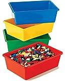 Tot Tutors Kids' Primary Colors Large Storage Bins, Set of 4