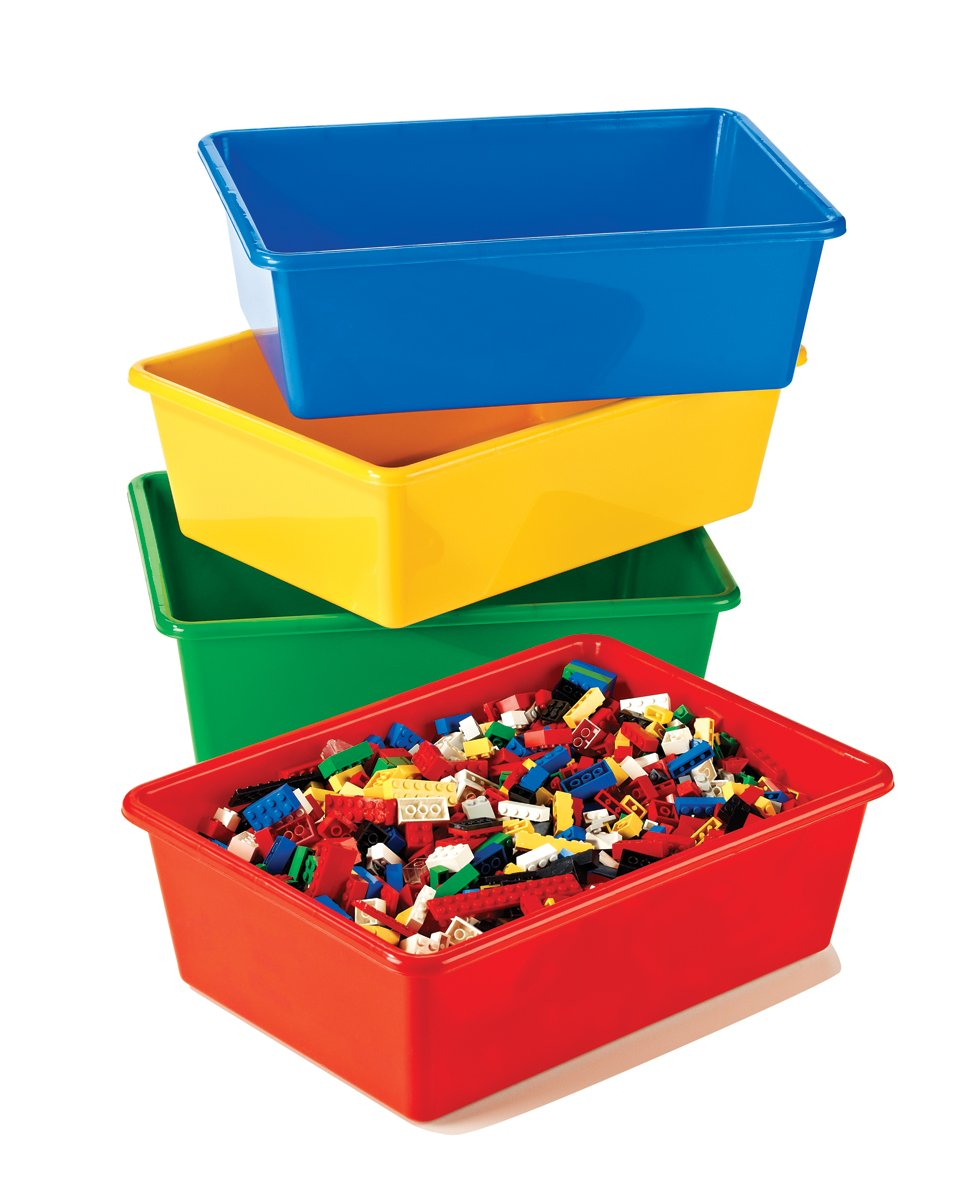 Marvelous Amazon.com: Tot Tutors Kidsu0027 Primary Colors Large Storage Bins, Set Of 4:  Home U0026 Kitchen