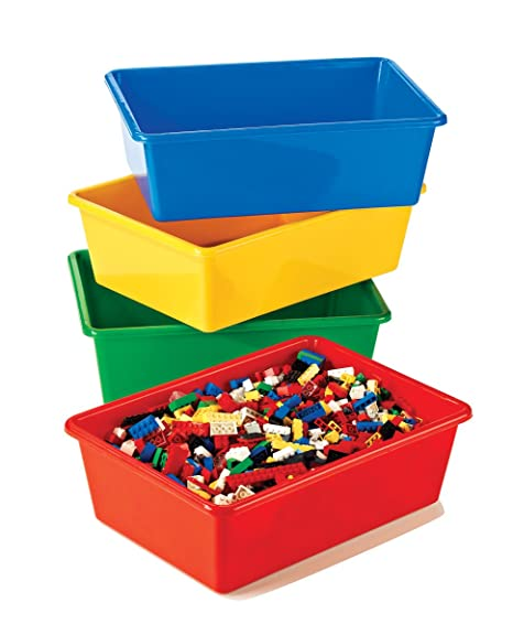 Tot Tutors Kidsu0027 Primary Colors Large Storage Bins, ...