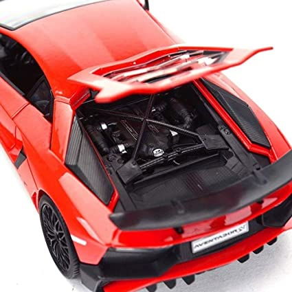YUBAIBA Rotes Auto Spielzeug Modell Rambo & Gini 1.24