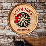 Personalized Dart Room Wine Barrel Top Sign