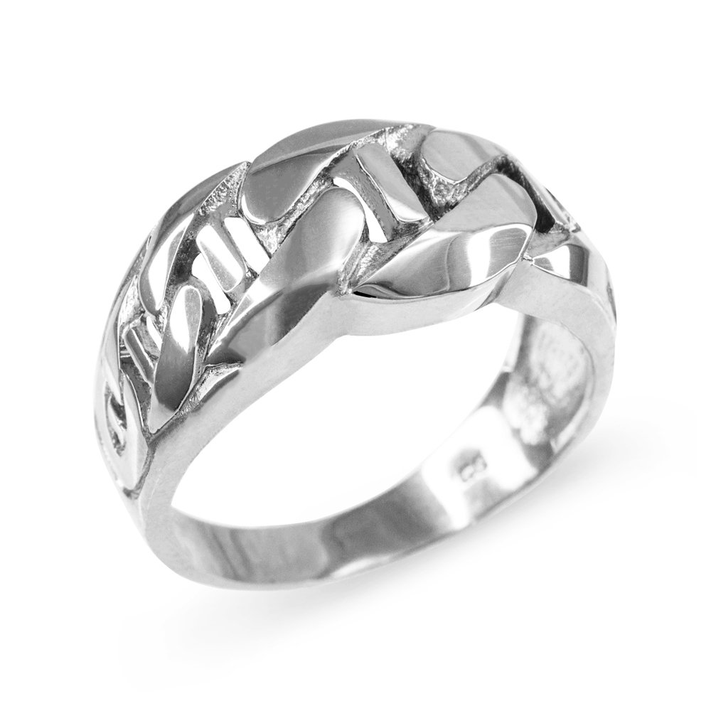 Mariner Link Chain Ring in Polished 925 Sterling Silver (Size 16)