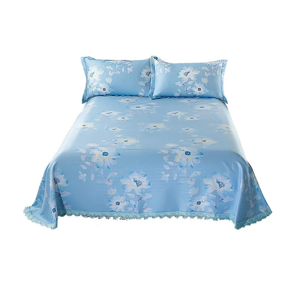 刺繍入りアイスシルクマットマットレススリーピース折りたたみ洗濯家庭用エアコンマットアイスマット枕カバーマット枕カバー柔らかくて丈夫 B07SKZ6BP8